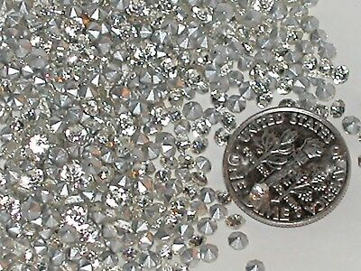 100 pc. Super sparkly chaton CRYSTALS pointed back for bottles foiled gems ss9