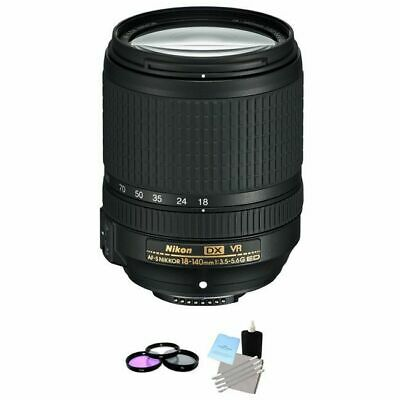 Nikon AF-S DX NIKKOR 18-140mm f/3.5-5.6G ED VR Lens + UV Kit & Cleaning Kit