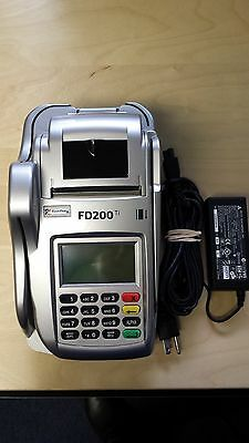 First Data FD200ti Credit Card Terminal with Power Supply and 1yr Warranty