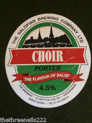 Beer Pump Clip - Salopian Choir Porter