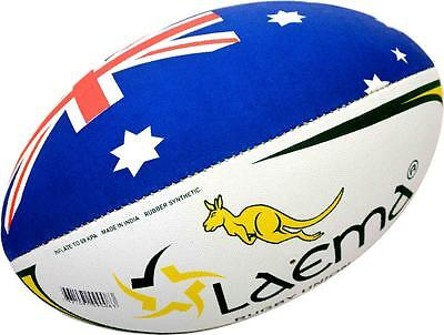KANGAROO -High Abrasion Grip 4PLY Rugby Union OzTag Touch Match Ball Size 3,4&5