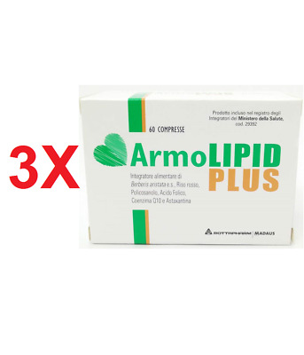 3 X Armolipid Plus Integratore Controllo Colesterolo 60 Cpr