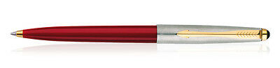 Parker Galaxy Jotter, Classic GT Ball Point Pen, RED Body, Blue Ink, Gold Trim