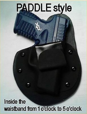 RIGHT Hand PADDLE STYLE IWB holster Conceal all model MTO leather kydex Holster
