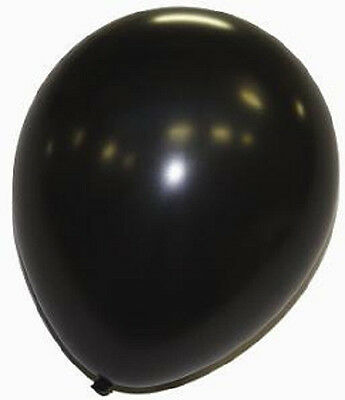 Lot de 10 ballons latex 30cm NOIR opaque biodegradable -idee decoration