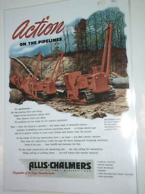 Allis-Chalmers Action on the pipelines colour poster