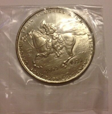 1935 Oregon Trail Memorial Ass'n Pony Express Diamond Jubilee - Nice Coin