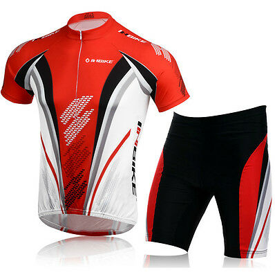Men's Cycling Team Summer Bicycle Sports Wear Outdoor Jersey+Shorts Wear Set