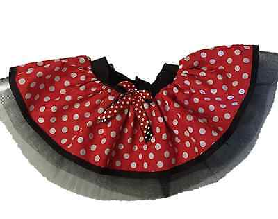 Tutu Skirt 80s Fancy Dress Party Red Minnie Mouse Girl Kids Baby Toddler Dots