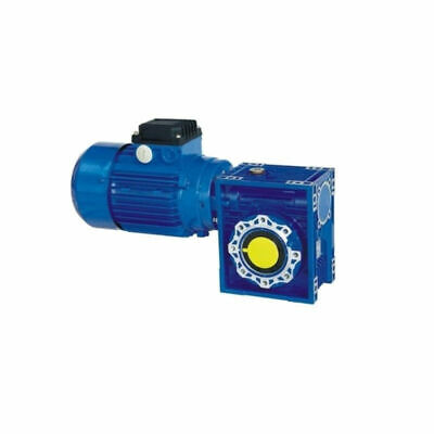 Three Phase 0.18kw Motor and Worm Gearbox 56rpm output 14mm Hollow Bore 15Nm