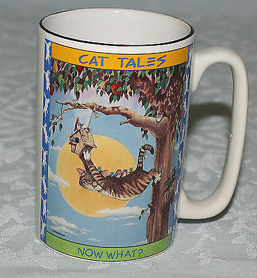 Cat Tales Mug Gary Patterson 1998 Cartoon Kitty Says Now What?