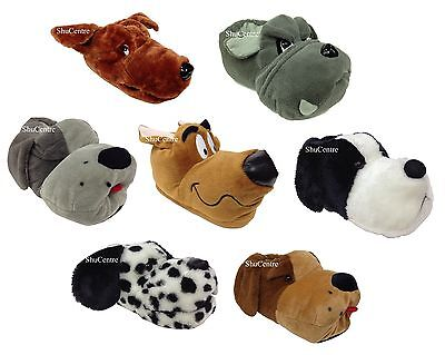 New Exclusive Mens Womens Padded Novelty Dog Slippers Funny Gift Present Scooby