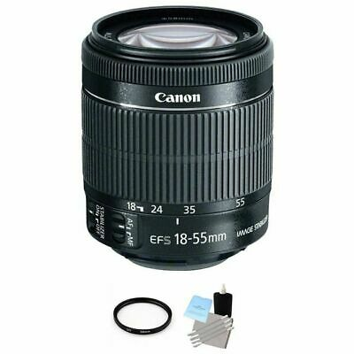 Canon EF-S 18-55mm f/3.5-5.6 IS STM Lens + UV Filter & Cleaning Kit