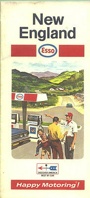 1969-70 Esso New England Vintage Road Map