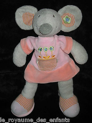 Doudou Grande Souris Grise The Plushies Collection by Lombok (Nicotoy) 35 cm