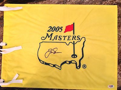 Jack Nicklaus PSA DNA Signed 2005 Masters Augusta Pin Flag PGA Open Palmer Woods