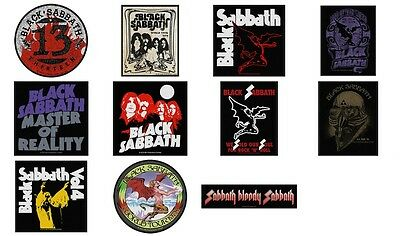 Black Sabbath Sew On Patch/Patches choice of 11 Designs NEW OFFICIAL