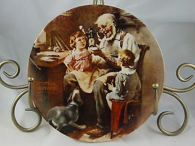 KNOWLES * NORMAN ROCKWELL HERITAGE COLLECTION * THE TOY MAKER * MIB COA