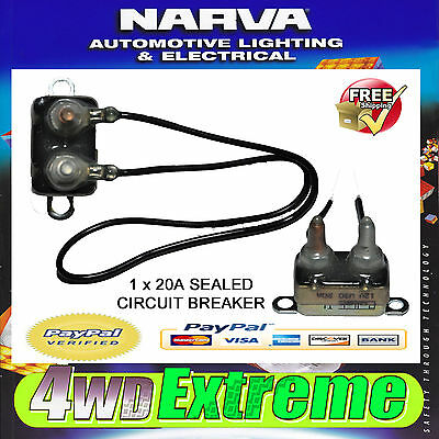 Narva 20 Amp Sealed Circuit Breaker Auto Reset, Dual Battery 20A 55220 Fuse Car
