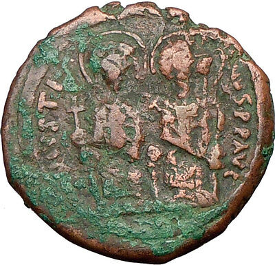 JUSTIN II & Queen Sophia  Rare HUGE Authentic Ancient Byzantine Coin  i19209