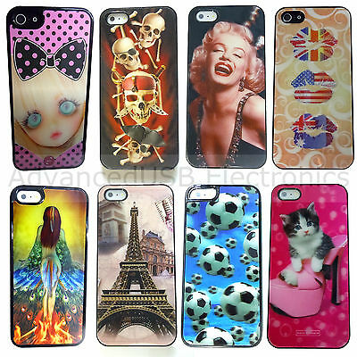 Skull / Beauty 3D Lenticular magic motion smartphone case cover For Iphone 5 5S