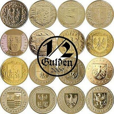 Poland Complete Set Of 16 Coins 2 Zloty Voivodeships Nordic Gold Coins