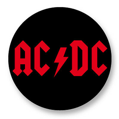 """Pin Button Badge Ø25mm 1""""  ACDC Youn Angus  Malcolm Young"""
