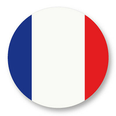 "Pin Button Badge Ø25mm 1"" France French FR Drapeau Flag Pays Country Paris"