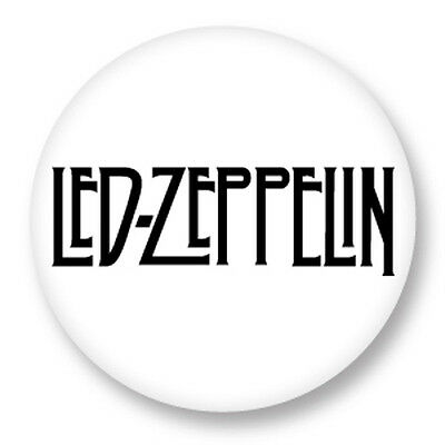 "Pin Button Badge Ø25mm 1"" Led Zeppelin Jimmy Page Hard rock"