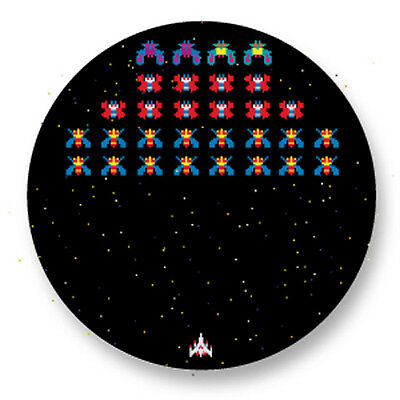 """Pin Button Badge Ø25mm 1"""" Retro Game Arcade Jeux 80s Asteroid"""