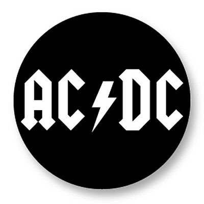 """Pin Button Badge Ø25mm 1"""" AC/DC Hard Rock Heavy Metal Bands Back in Black"""