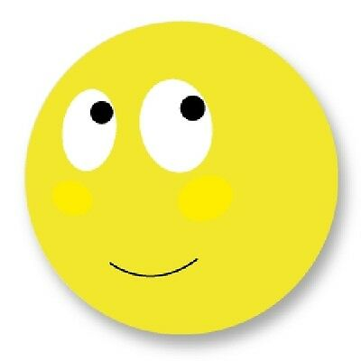 "Pin Button Badge Ø25mm 1"" Smiley Face Smile Smiling Emo Emoticones Happy Face"