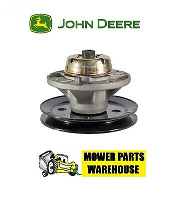 Repl Deck Blade Spindle Assembly W/ Pulley John Deere Am121229 Lx/gt Am121342