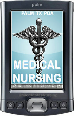 PALM TX T/X MEDICAL NURSING PDA APPROVED LATEST NEW 2015 BOOKS 4GB  + KEYBOARD !