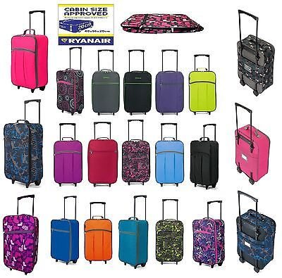 New Wheeled Cabin Hand Luggage Bag Small Case Ladies Girls Foldable Travel