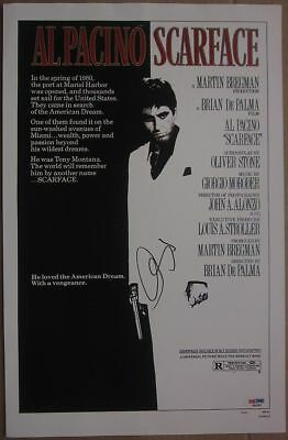 Scarface Cast (11 Signatures) Al Pacino Signed 11x17 Movie Poster ...