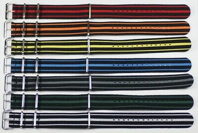 Nato G10 Military Strap Quality Tough Nylon Mens Watch Straps Replacement New