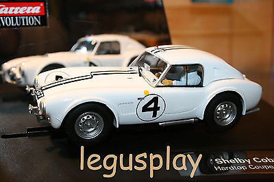 Slot SCX Scalextric Carrera 27411 Evolution Shelby Cobra 289 Hardtop Coupe '63