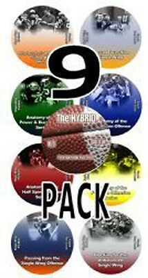9 Pack Single Wing Offense Instalation DVDs