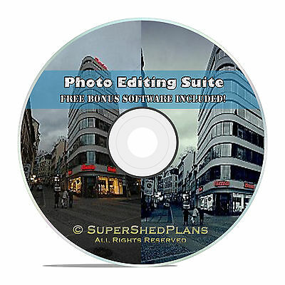 Digital Image Photo Editor Editing Software Suite CD, W/ Free Office Software
