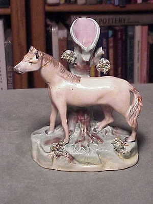 Antique Single Horse Mantle Figurine English Staffordshire - The Parr Factory