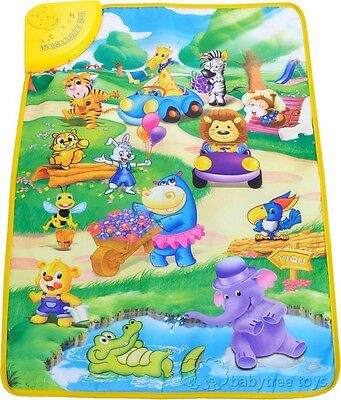 Russian Language Learning and Teaching Musical Baby Blanket Kid Crawl Play Mat