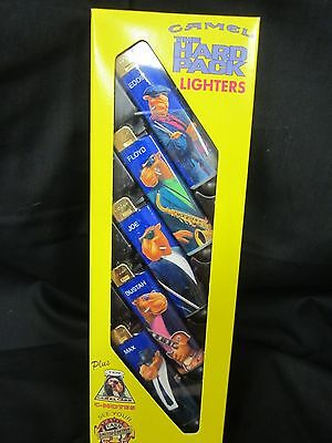 1991 Camel The Hard Pack Lighters 5 Lighters New Never Used In Box