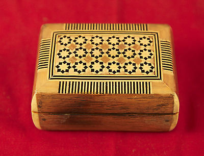 Vintage Jewelry Box with Inlaid Patterns