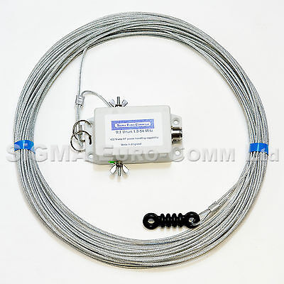 SIGMA EURO-COMM   LW-10 HF 40 -6m Multiband Long Wire Antenna / Aerial