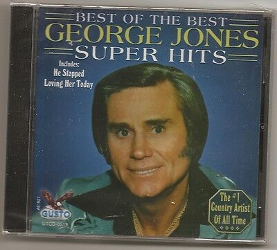 "George Jones, Cd ""Best Of The Best, Hall Of Fame"" New Sealed"
