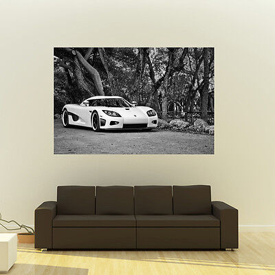 Poster of Koenigsegg CCX Giant Black and White HD Super Car Huge Print 54x36