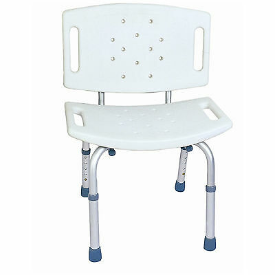 CA350 CareMax Aluminium Adjustable Bath Shower Seat Chair with Back Rest