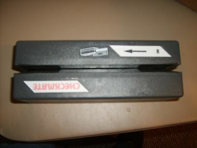 18 Checkmate CMR 431 Check Scanner Reader AC Adapter Included and 17 Data Cables