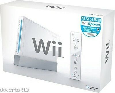 Nintendo Wii White Backwards Compatible Console System In Box **PLAYS GAMECUBE**